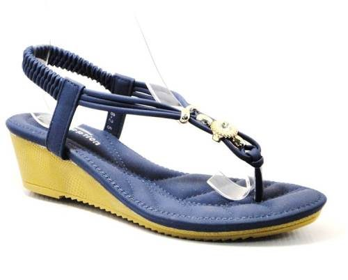 blue ladies wedge