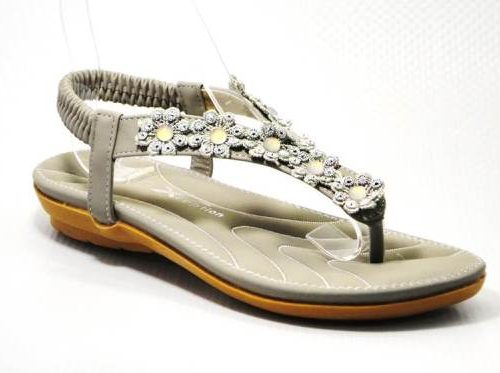 grey ladies sandal