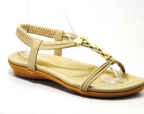 beige ladies sandal