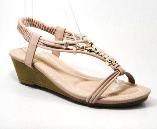 nude ladies wedge