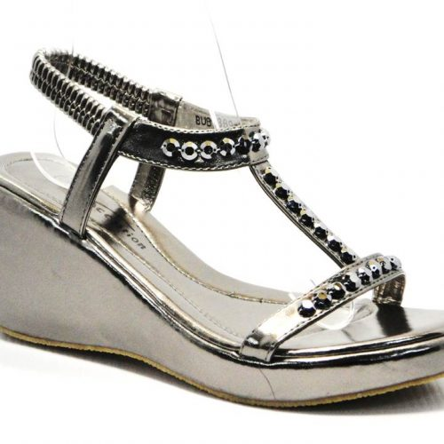 pewter ladies wedge