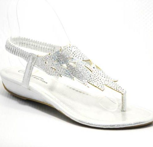 silver ladies sandal