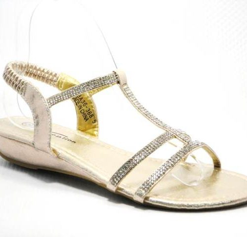 gold ladies sandal