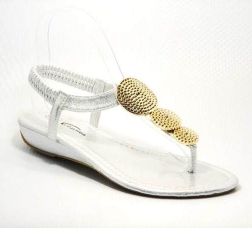 gold and silver diamante sandal