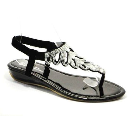 black diamante sandal